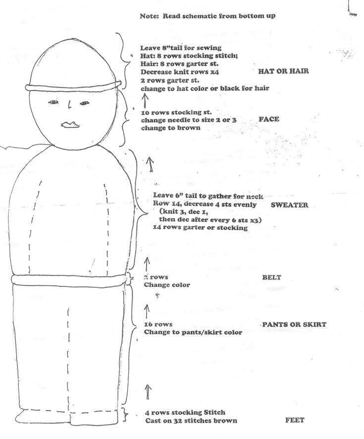 Crochet comfort doll