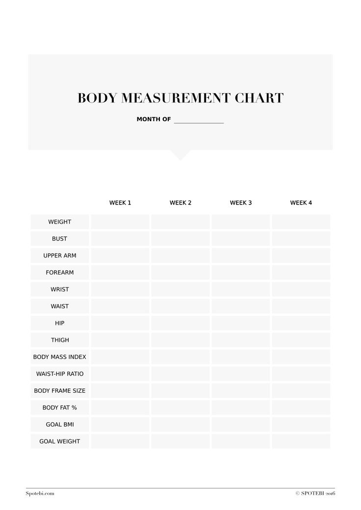 waist to hip ratio chart pdf
