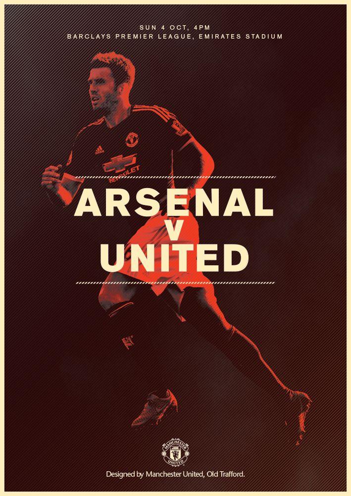 Match poster. Arsenal v Manchester United, 4 October 2015. Designed by @manutd