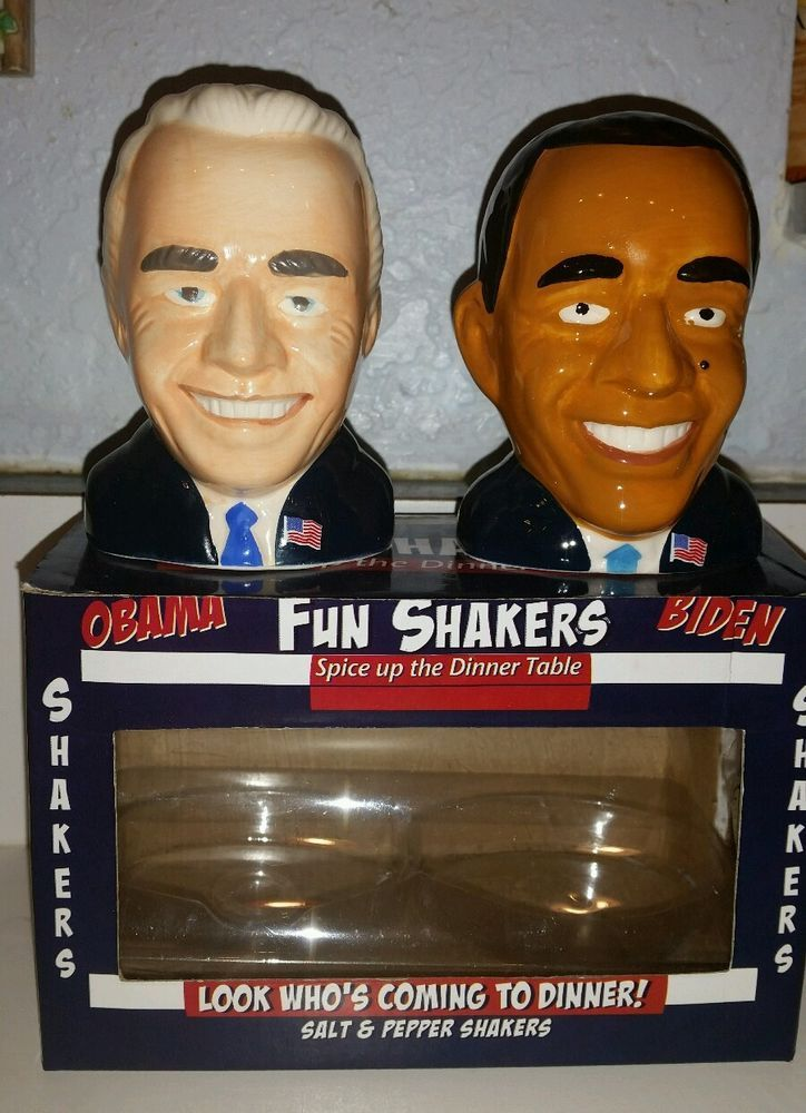 President Obama Vice President Biden Salt & Pepper Shakers NEW Fun Shakers Please RePinit, ReTweet and Share on Facebook. Thanks