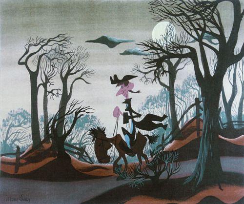 Mary Blair's concept art for Ichabod Crane