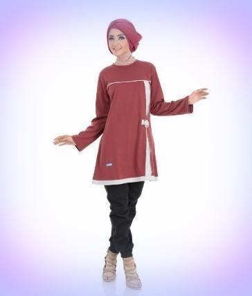 Beli Baju Atasan Wanita Tunik  ALNITA AA - 04 MAROON dari Aprilia Wati agenbajumuslim - Sidoarjo hanya di Bukalapak
