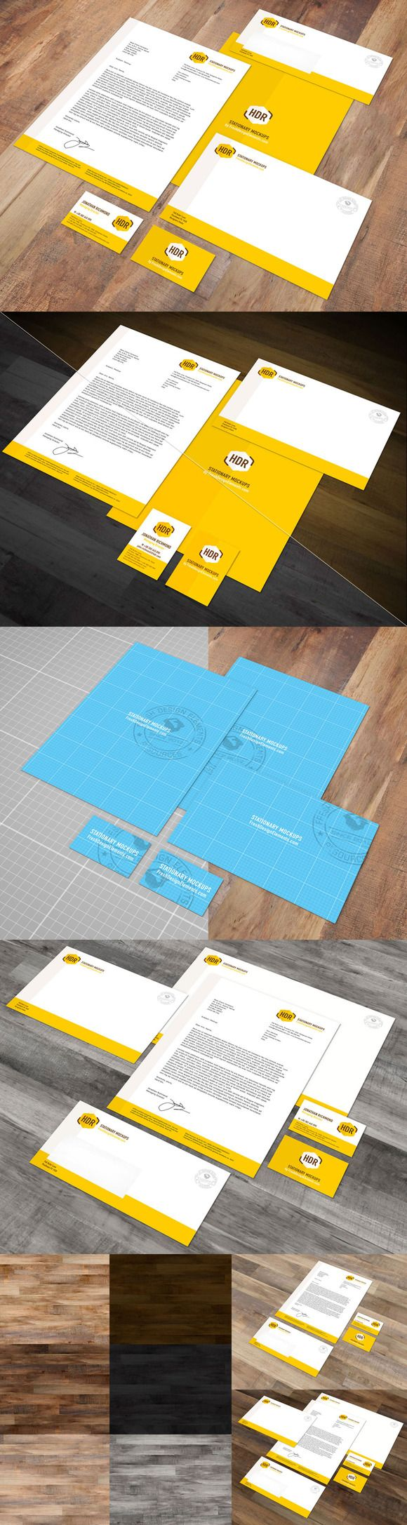 Euro Stationary Mockup Vol. 1 by Fresh Design Elements on Creative Market