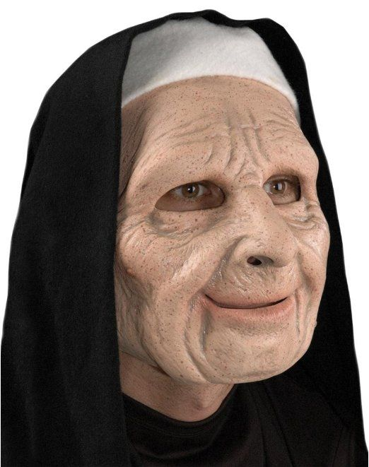 Nun Old Lady Adult Halloween Mask: Clothing   | Zombie Infested World  | Shop Halloween Costumes | Horror Costumes | Scary masks | zombie infested world | www.zombieinfeste... #halloween #zombies #costumes #masks #pranks #texaschainsaw #scarycostumes #halloween #halloweencostumes #womenscostumes #horrorcostumes #Holidays #Holidayparties #menscostumes #kidscostumes #Nun_Mask http://www.zombieinfestedworld.com/halloween-masks-for-sale-online.html