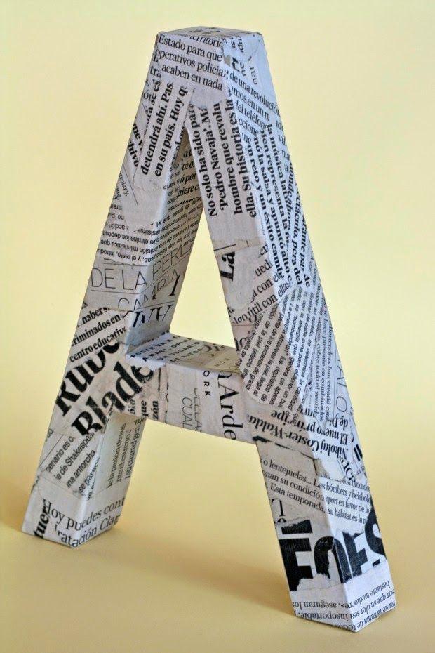 Cómo hacer unas letras decorativas con cartón ~ Mimundomanual