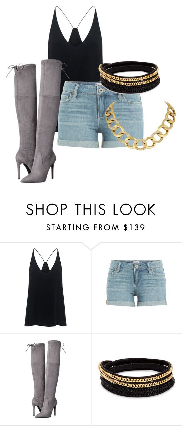 """""""worth it"""" by emojis123 ❤ liked on Polyvore featuring TIBI, Paige Denim, GUESS, Vita Fede and House of Harlow 1960"""