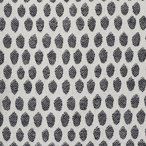 Elca Cotton Fabric Black and Linen