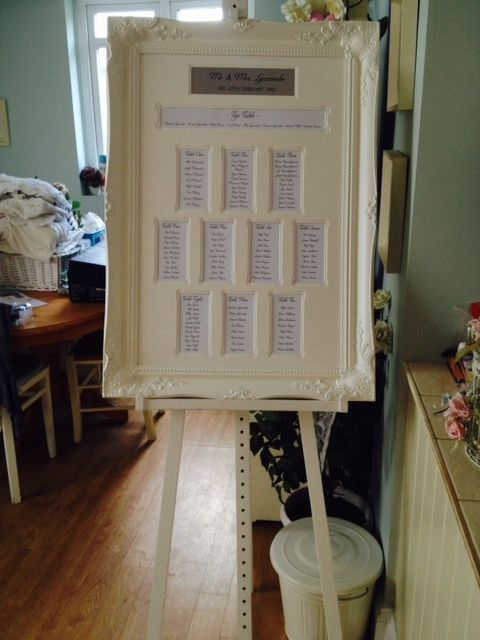 Wedding Table Plan Frame And Easel Hire Only Vintage