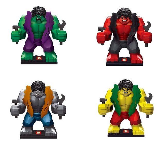 Sy255 40 шт. строительство блоки супер героев мстители Ultron Minifigures большой зеленый серый фиолетовый красный халк рисунок совместимо с Lego