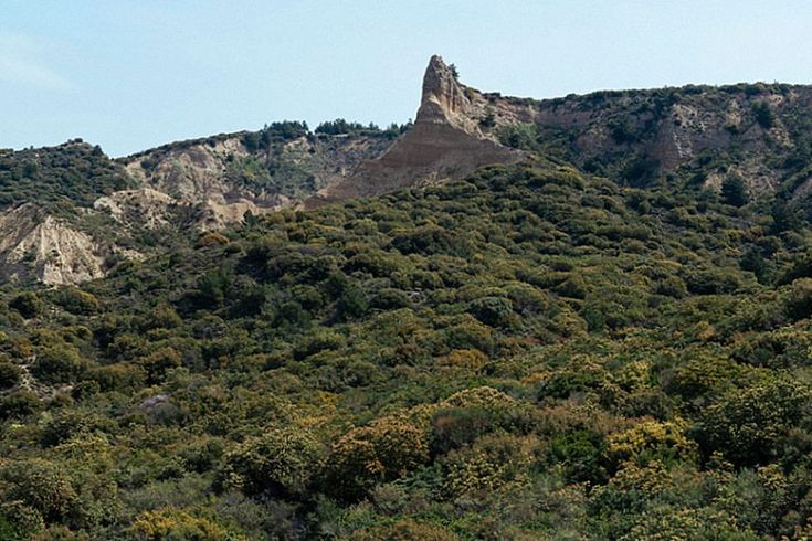 2015: The cliffs at Gallipoli, dominated by the 'Sphinx' or 'Cathedral'.
