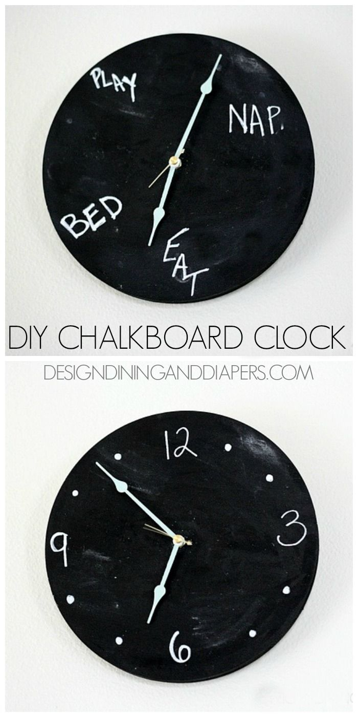 Chalkboard Clock Tutorial 60 best Tic Toc