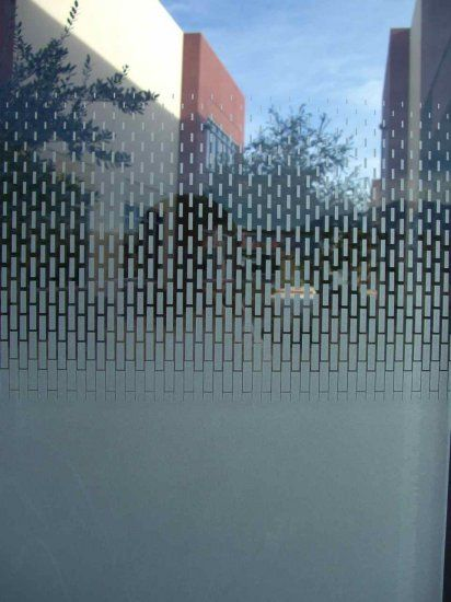 Frosted Glass Windows Door Glass Etched Gradient Squares