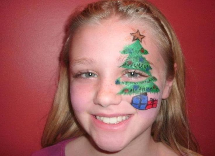christmas tree face painting