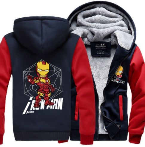 Iron Man Fleece Jacket - World of Captain
