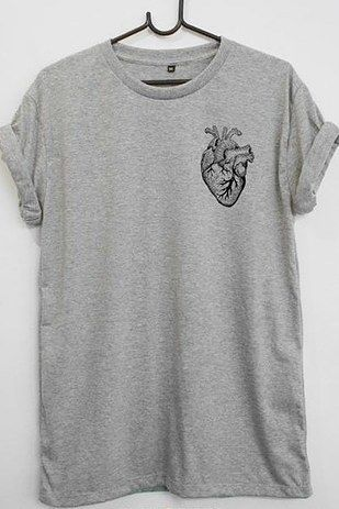 A T-shirt straight from the heart. | 27 Infectiously Cool Gifts For Medical Nerds