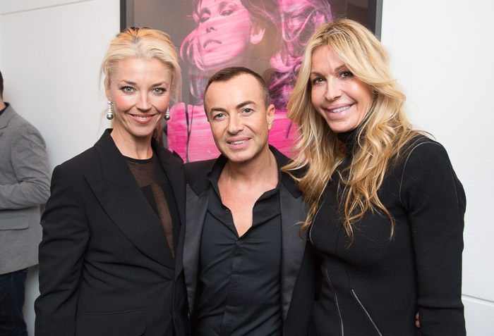 Fashion designers Julian Macdonald and Melissa Odabash with Tamara Beckwith.