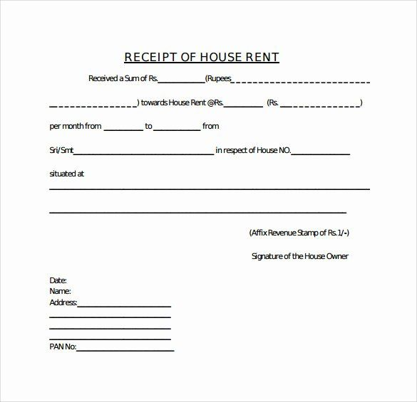 House Rent Receipt Format With Images Receipt Template