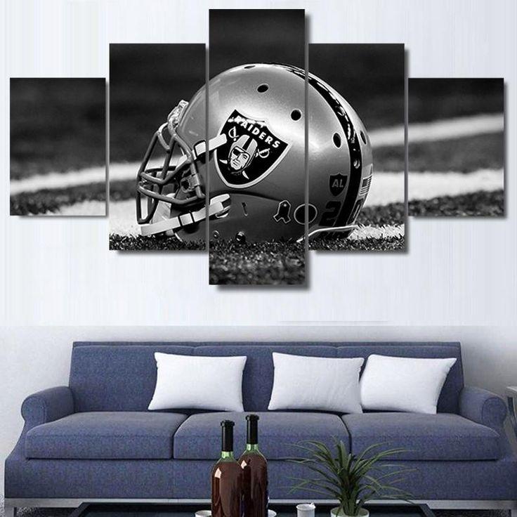 Oakland Raiders Helmet Wall Art  #canvas #art #sport #college #wall #nfl #football