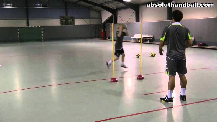 Handball Passtraining in der 2er-Gruppe