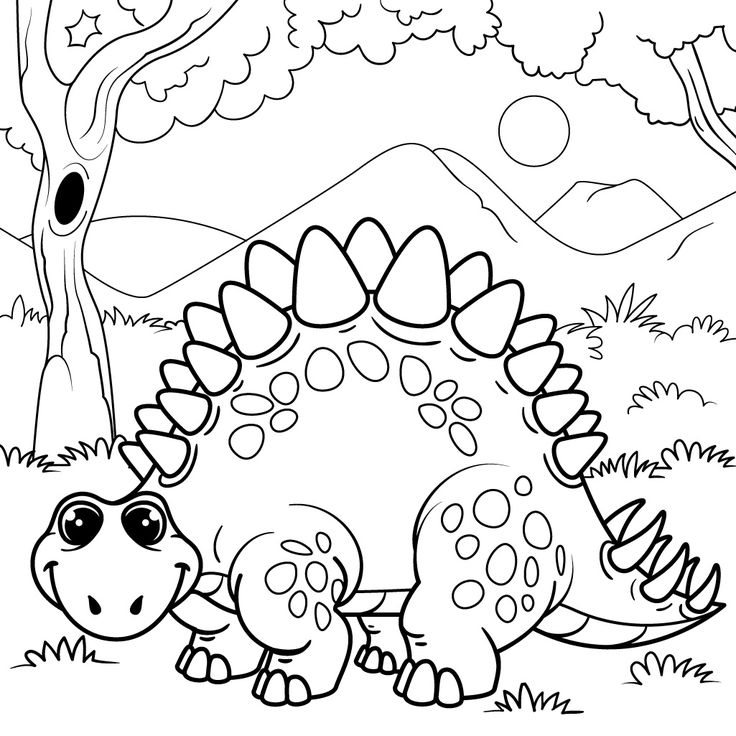 40 best Dinosaur Coloring Pages images on Pinterest Coloring