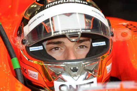 Jules Bianchi in the Marussia cockpit
