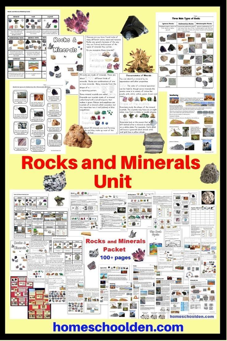 Rocks And Mineral Unit In 2021 Homeschool Science Curriculum Homeschool Alternative Education