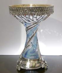 Russian Art Nouveau Silver and Crystal Vase | JV