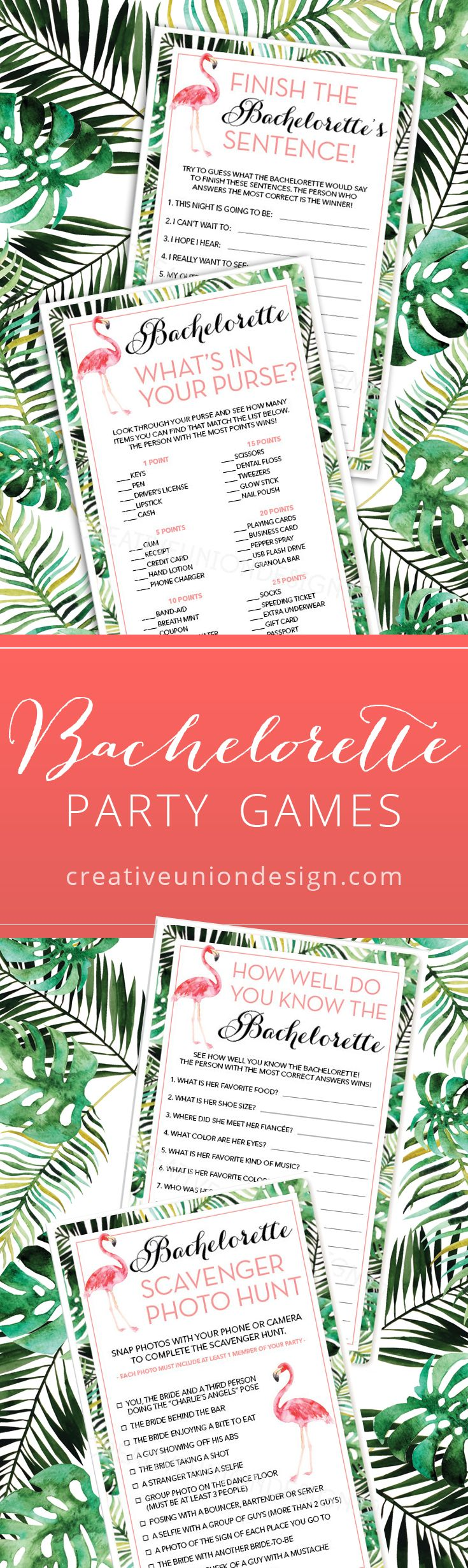 Flamingo Themed Bachelorette Party Games You have
