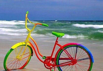 Bicicleta multicolor