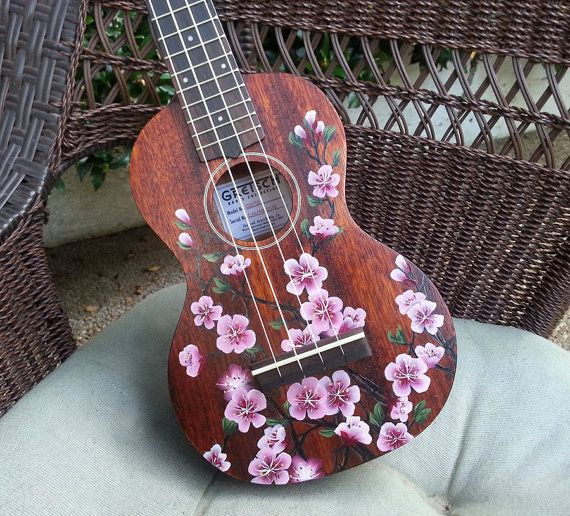 YOUR Soprano Ukulele Handpainted with Cherry von LemonTreeWorkshop
