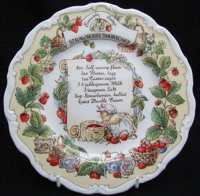 Royal Doulton Brambly Hedge Recipe Plate - Strawberry Shortcake