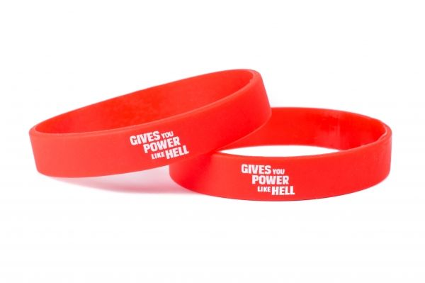 Hell Energy Silicone Bracelet in Red