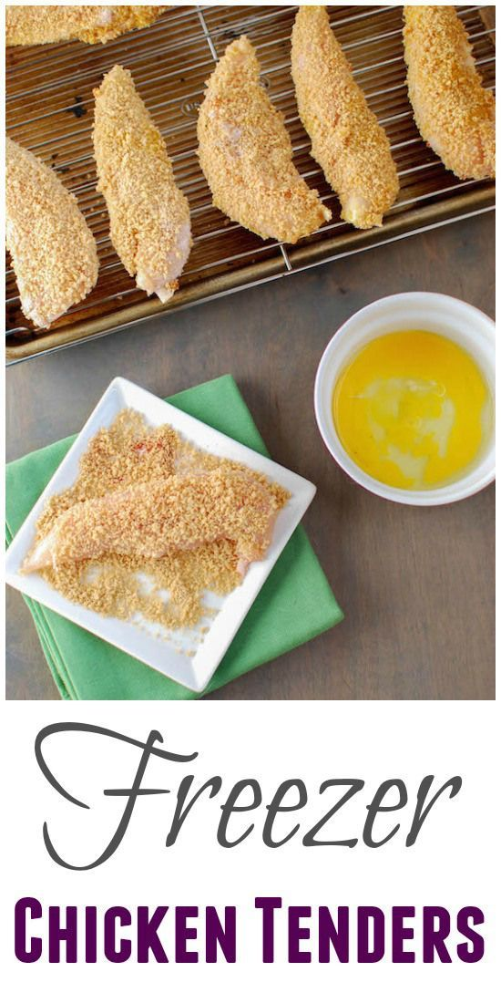 These Freezer Chicken Tenders are breaded ahead of time and frozen. When you need dinner on a busy night they go from frozen to table in 30 minutes! (Breaded Chicken Ideas)