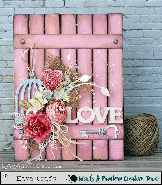 """April 2017 by KAVA Craft """"LOVE Canvas"""""""