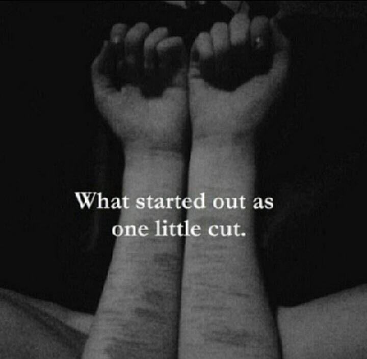 Emo Quotes About Suicide: What Started Out As One Little Cut.