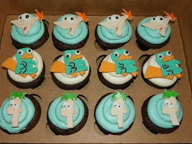 Plumeria Cake Studio: Phineas, Ferb, and Perry the Platypus Cupcakes