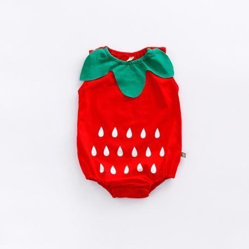 30ec146596fb Lovely Infant Newborn Baby Boys Girls Clothes Cartoon Bodysuit Fruit ...