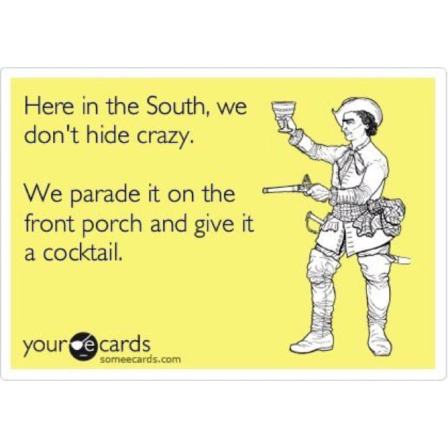bahaha half my family!!: Southern Truths, Southern 3, Hiding Crazy, Designing Women, Crazy People, Southern Porches, So Funny, Southern Crazy, Front Porches