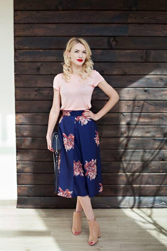 Skirt bleumarine spring summer