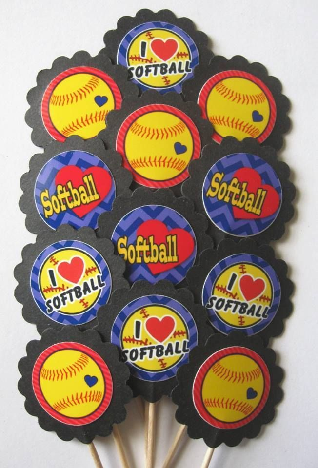 1000 Ideas About Softball Cupcakes On Pinterest