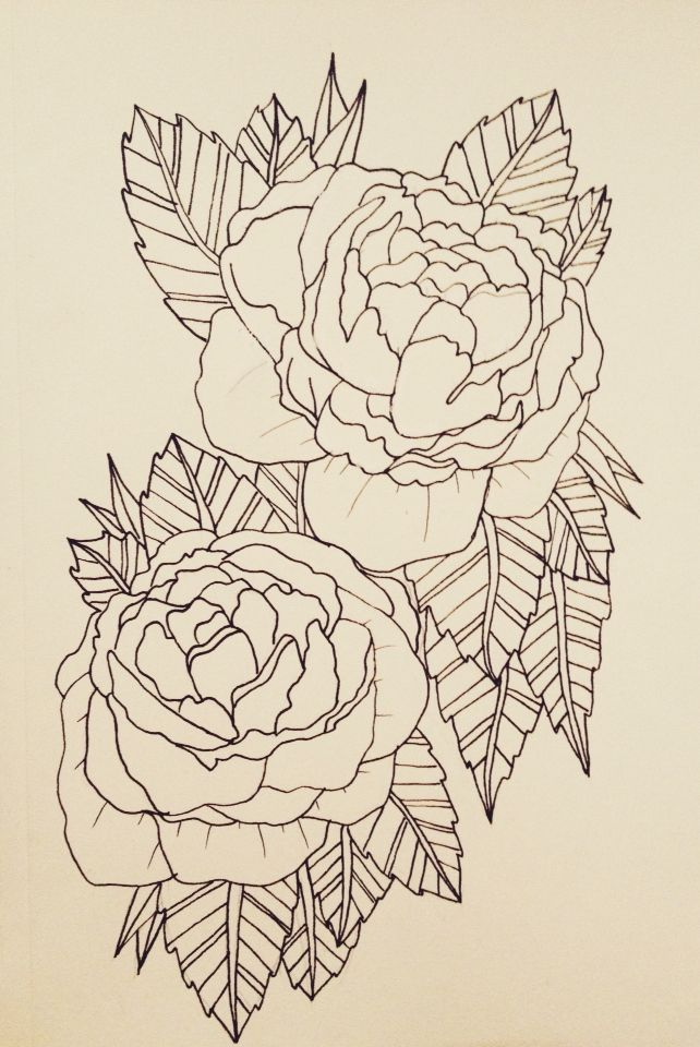 peony.tattoo #peony #tattoo #peonytattoo #outline #peonyoutline #girly #flower #flowers #girlytattoo