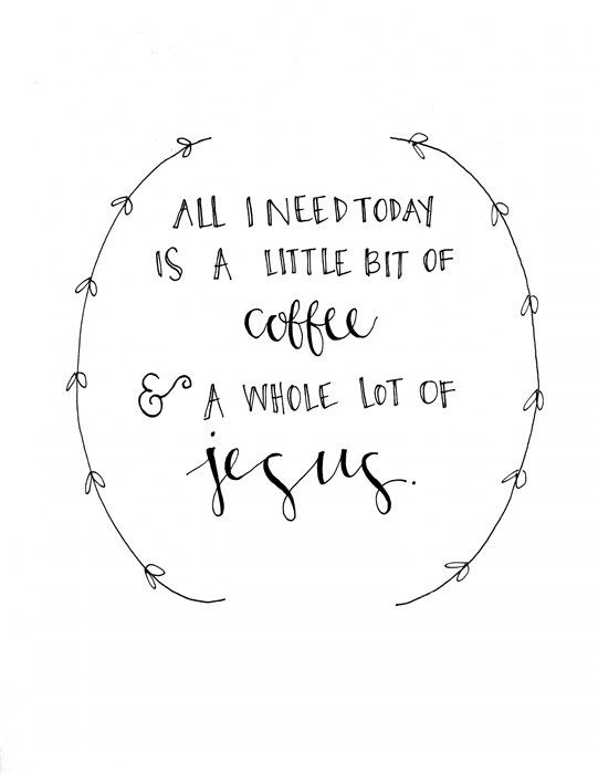 Jesus & Coffee Print by evannicoledesigns on Etsy, $15.00