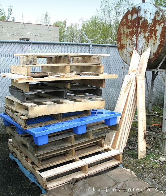 Everything you ever wanted to know about pallet wood via FunkyJunkInteriors.net