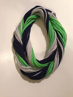 Seattle Seahawks Tshirt Scarf by Stitches To Britches $15