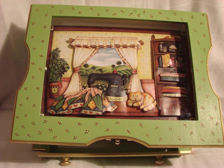 Caixa costura Arte Francesa.