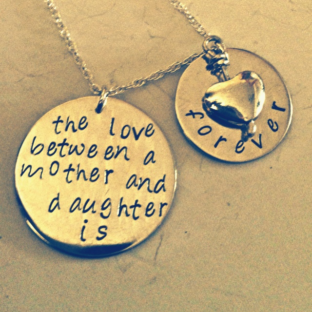 Sterling silver mother & daughter poem necklace  Prices from £25  www.facebook.com/pandorastylejewellery #jewellery #gift #silver #craft http://pict.com/p/Vo