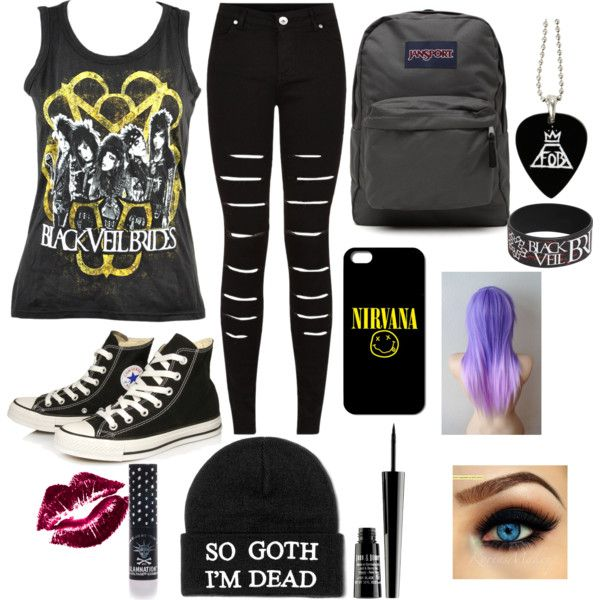 Untitled #27 by ronnieradkemine on Polyvore featuring polyvore fashion style Converse JanSport Lord & Berry Manic Panic