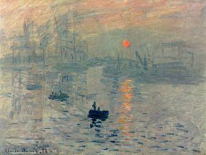 Impressionisme. Claude Monets 'Impression, soleil levant' was de naamgever én het paradepaardje van de impressionistische beweging, die in 1874 hun eerste officiële tentoonstelling organiseerden.