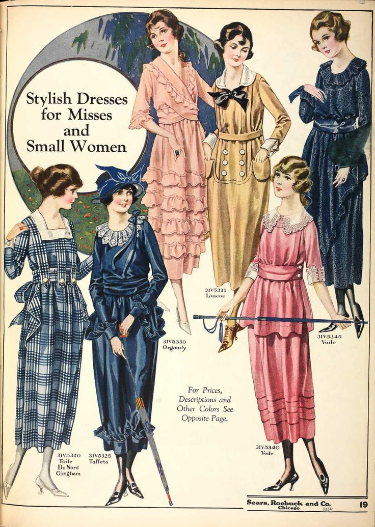 Women's fashions of 1918