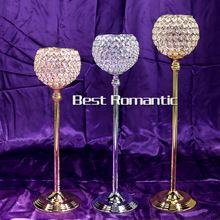 73 cm hauteur or cristal de mariage décoration bougeoirs chandeliers de l'événement party bougie reposer pièce maîtresse candélabres(China (Mainland))